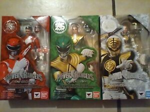Mighty Morphin' Power Rangers SH Figuarts Red Green White.. E.E. Stage ACT.4.NEW