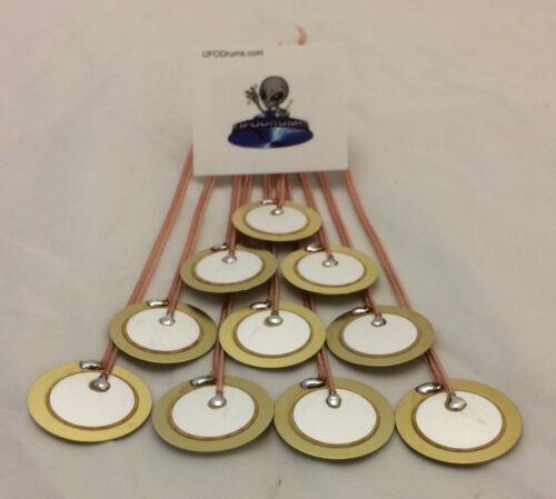 6x QTY Murata 27mm Ceramic Piezo Sensor Trigger Electronic Drum Conversion DIY