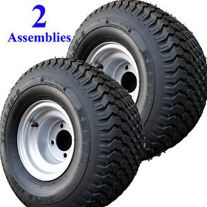 20x10.00-8 TIREs RIMs WHEELs ASSEMBLY Garden Tractor Riding Mower Go Kart 4-Hole