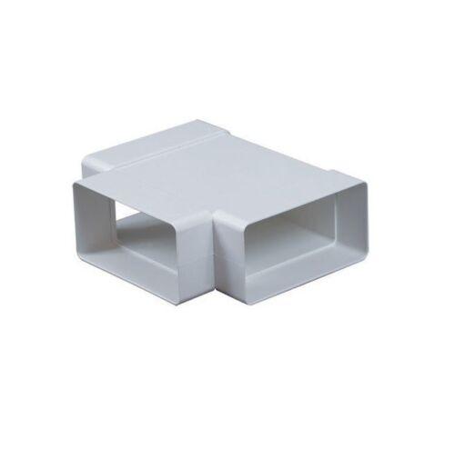 Canale Rettangolare T Pezzo 55 mm x 110 mm canalizzazione Connettore Tubo Adattatore KP55-26