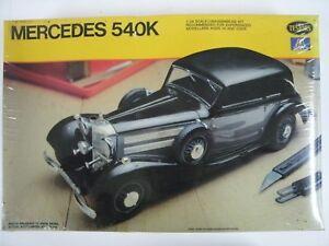 Vintage-Testors-Sealed-Mercedes-540K-1-24-Scale-Model-Kit-831