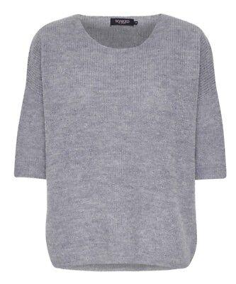 Soaked in Luxury Women/'s Tuesday Jumper Grey Medium RRP £69 BNWT