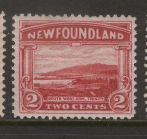 NEWFOUNDLAND 132 1923 2c CARMINE PICTORIAL ISSUE SW ARM TRINITY P14.0X14.2 MPH