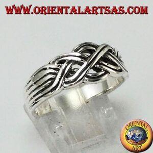 Anello-a-fascia-modello-fede-turca-a-quattro-in-argento-925