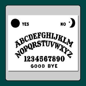 8-X-10-Ouija-Spirit-Board-STENCIL-Moon-Star-Sun-Supernatural-Halloween-Ghost