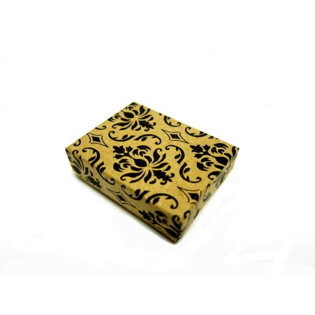 100pcs Damask Cotton Filled Jewelry Boxes 2 x 1 1/2