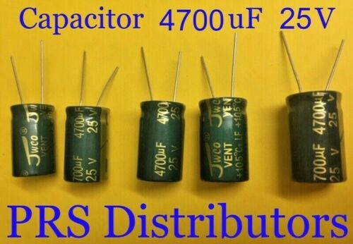 CAPACITOR 4700uF 25V Radial Electrolytic Capacitor 4700mF 4700 uF  USA SELLER