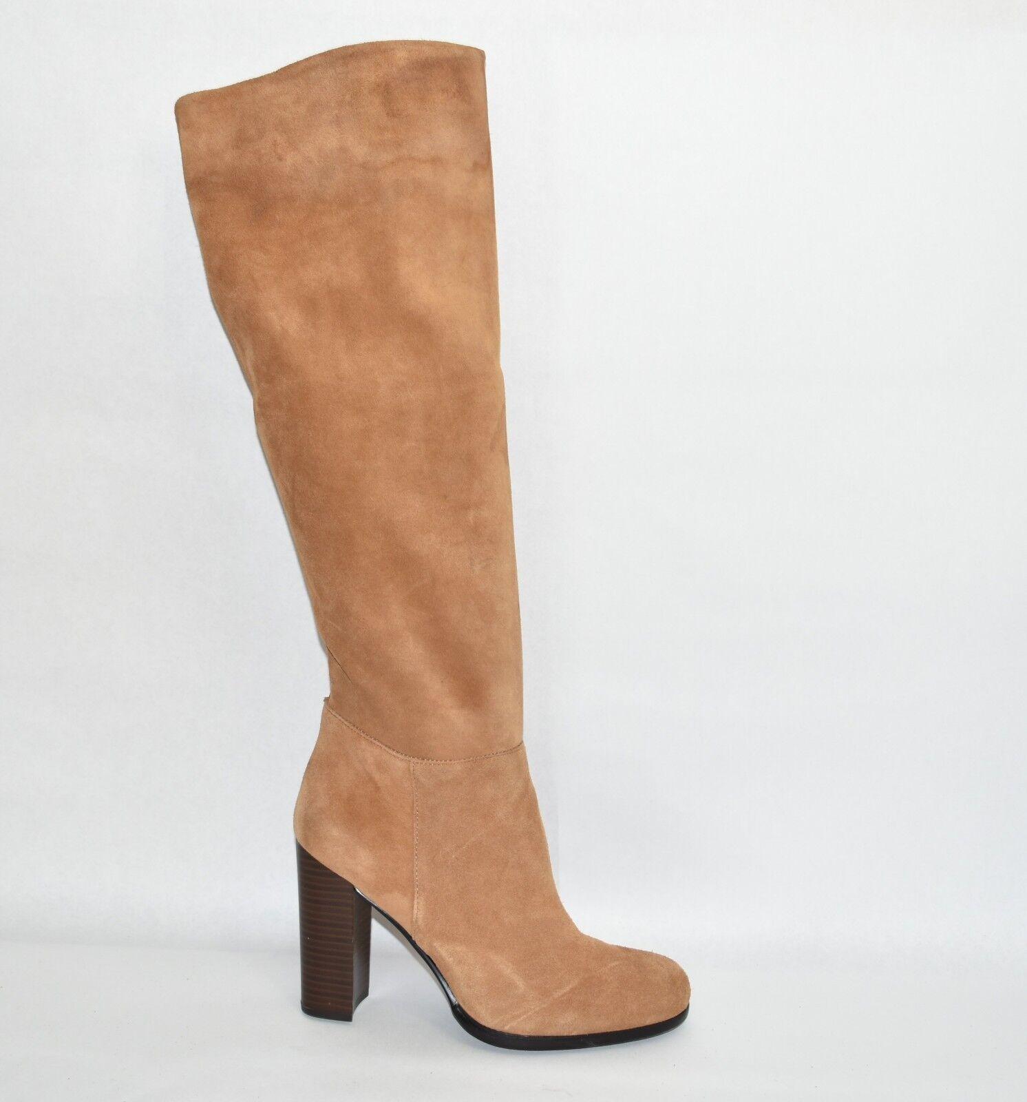 Sam Edelman Victoria Tall Suede Boot Golden Caramel Brown Size 10 T32