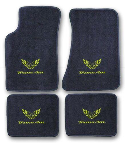 Choose Color /& Official Logo 1982-2002 Pontiac Trans Am 4pc Carpet Floor Mats