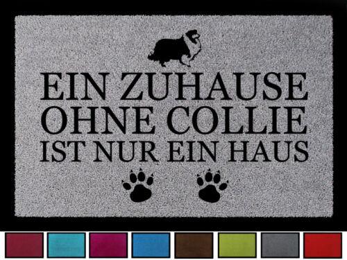 Schmutzmatte Hund Viele Farben TÜRMATTE Fußmatte EIN ZUHAUSE OHNE COLLIE