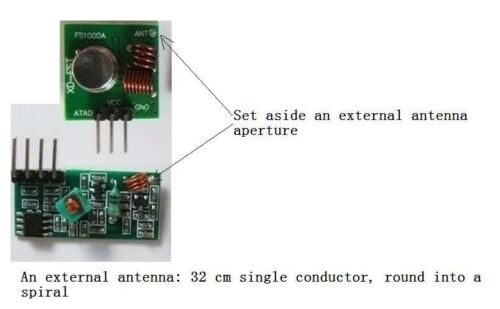 50 PCS 433Mhz RF transmitter and receiver kit Module for ARM//MCU remote control