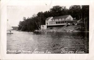 Vintage-Photo-River-amp-cottage-somewhere-in-Quebec-Canada-mid-century