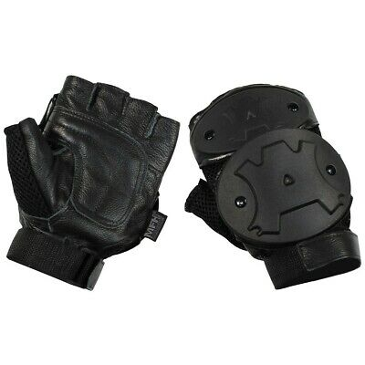 NEU Security fingerlinge Handschuhe Echt Leder Polizei fingerlose Handschuhe
