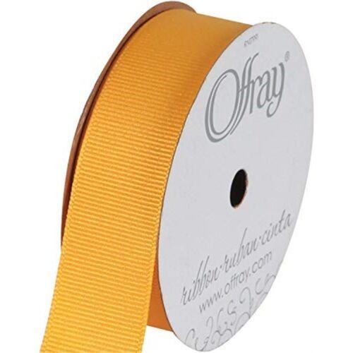 "Offray Grosgrain Ribbon 7//8/""x18/'-yellow Gold"