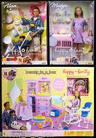 Alan & Ryan Pregnant Midge Barbie Doll Baby Happy Family Nursery Playset T