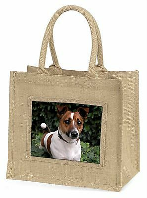 Jack Russell Terrier Hund Große Natürliche Jute-einkaufstasche Weihnachten G,