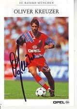 FOOTBALL carte joueur OLIVER KREUZER équipe FC BAYERN DE MUNICH signée