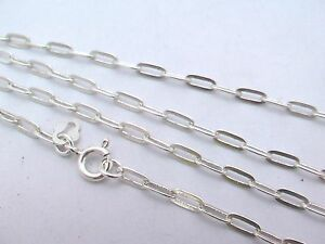 Sale-Solid-925-Sterling-Silver-Flat-Cable-Link-Chain-Necklaces-16-034-24-034