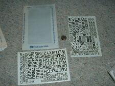 "Microscale  Decals 1/72 72-0213 AF Navy Modern 60 deg angle 24"" 36"" let num C97"