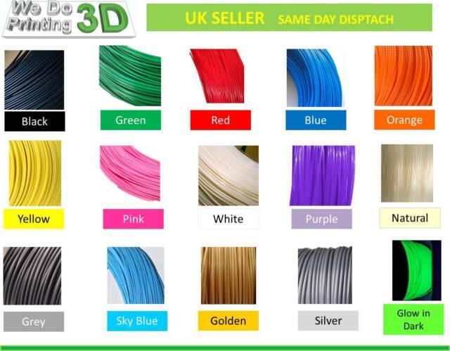 3D Printer Filament ABS 1.75mm, 25 Colours - 100m 50m 20m 10m Lengths - Reprap