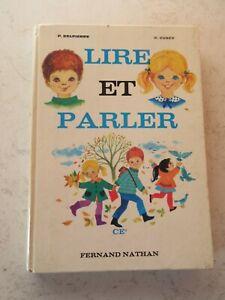 ancien livre scolaire lire et parler CE2 fernand nathan de 1967 vintage.