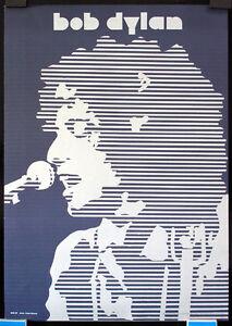 Unusual-Original-1960s-Bob-Dylan-Graphic-Design-Poster-Lot-294