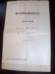 Antiquare-Grundbuchtabelle-Well-From-1903-To-1927-Amstgericht-Hoechst-S23