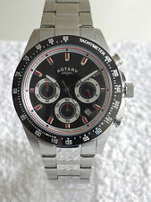 Rotary Men's GB03637/04 Chronograph Bracelet Swiss Luminous Watch RRP £229 NEW