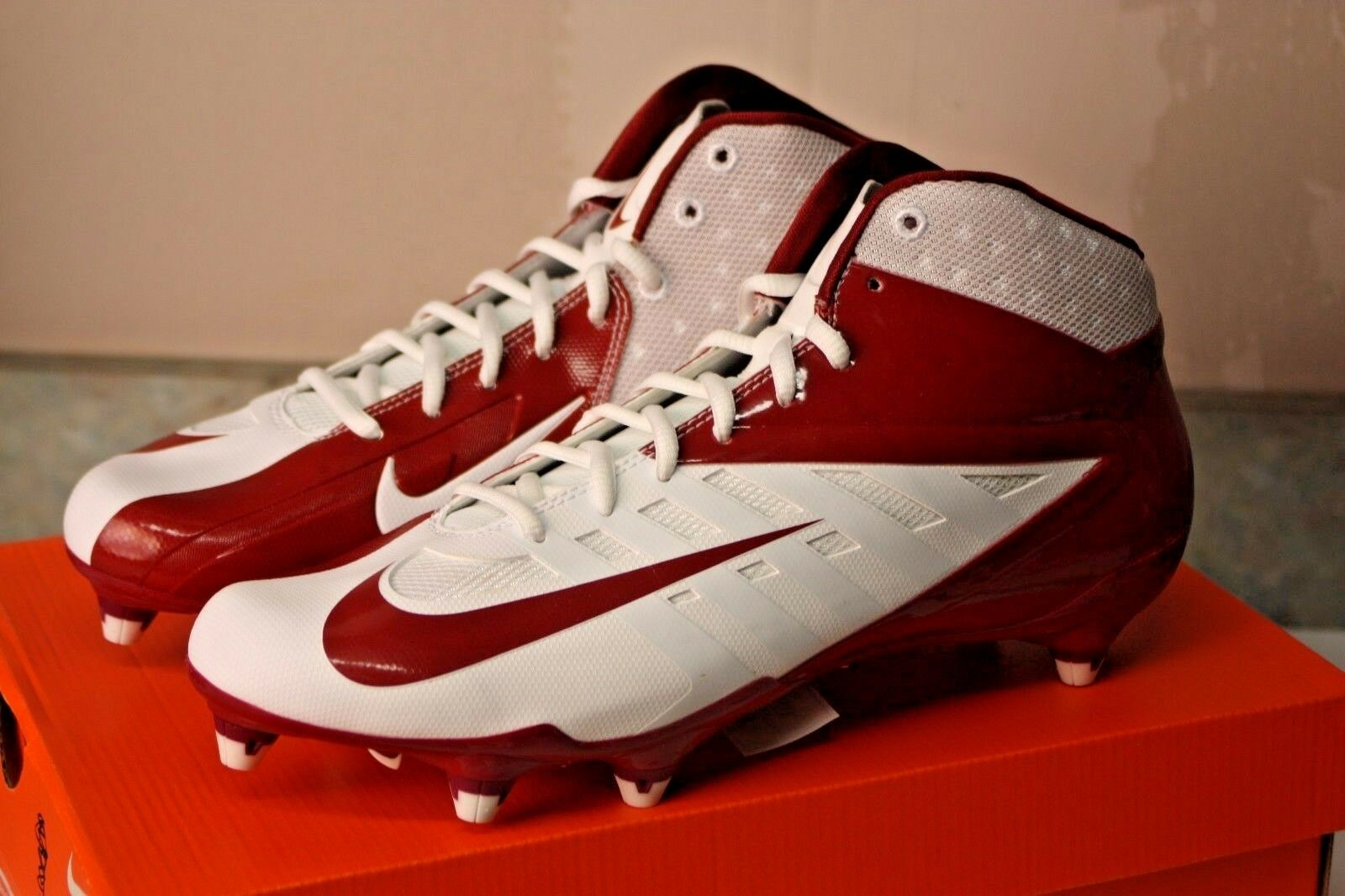 MEN'S NIKE VAPOR PRO 3/4 D FOOTBALL CLEATS 511343 167 RED CRIMSON WHITE Sz 12.5 best-selling model of the brand