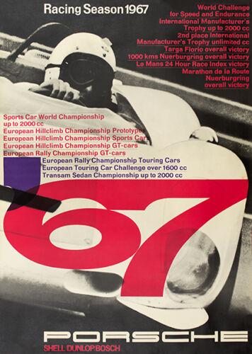 Porsche Racing Season 1967 poster