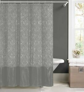 Beau Image Is Loading Silver Faux Silk Fabric Shower Curtain W 12