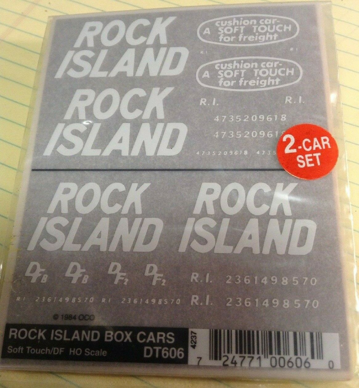 Rock Island Box Car Soft Touch-DFE Dry Transfer Decals Woodland Scenics