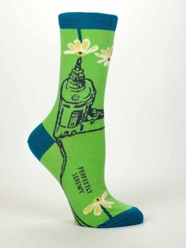Blue Q Perfectly Screwy Women/'s Casual Sock 5-10