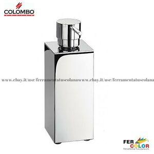 Dettagli su Porta dispenser sapone da appoggio COLOMBO arredo bagno Look  B9320 cromo lucido