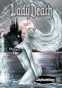 Lady-Death-034-Naughty-Azure-034-Metallicard-Ltd-Ed-99-with-Arr-by-Mike-Krome