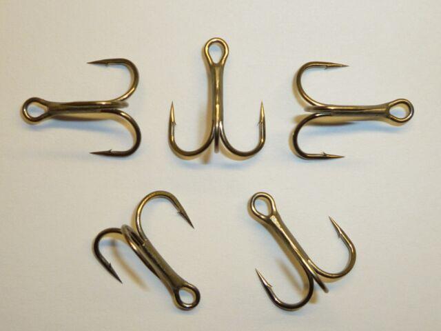 Size 6 Super Sharp 25 Pack Gamakatsu 47107 Round Bend Bronze Treble Hooks