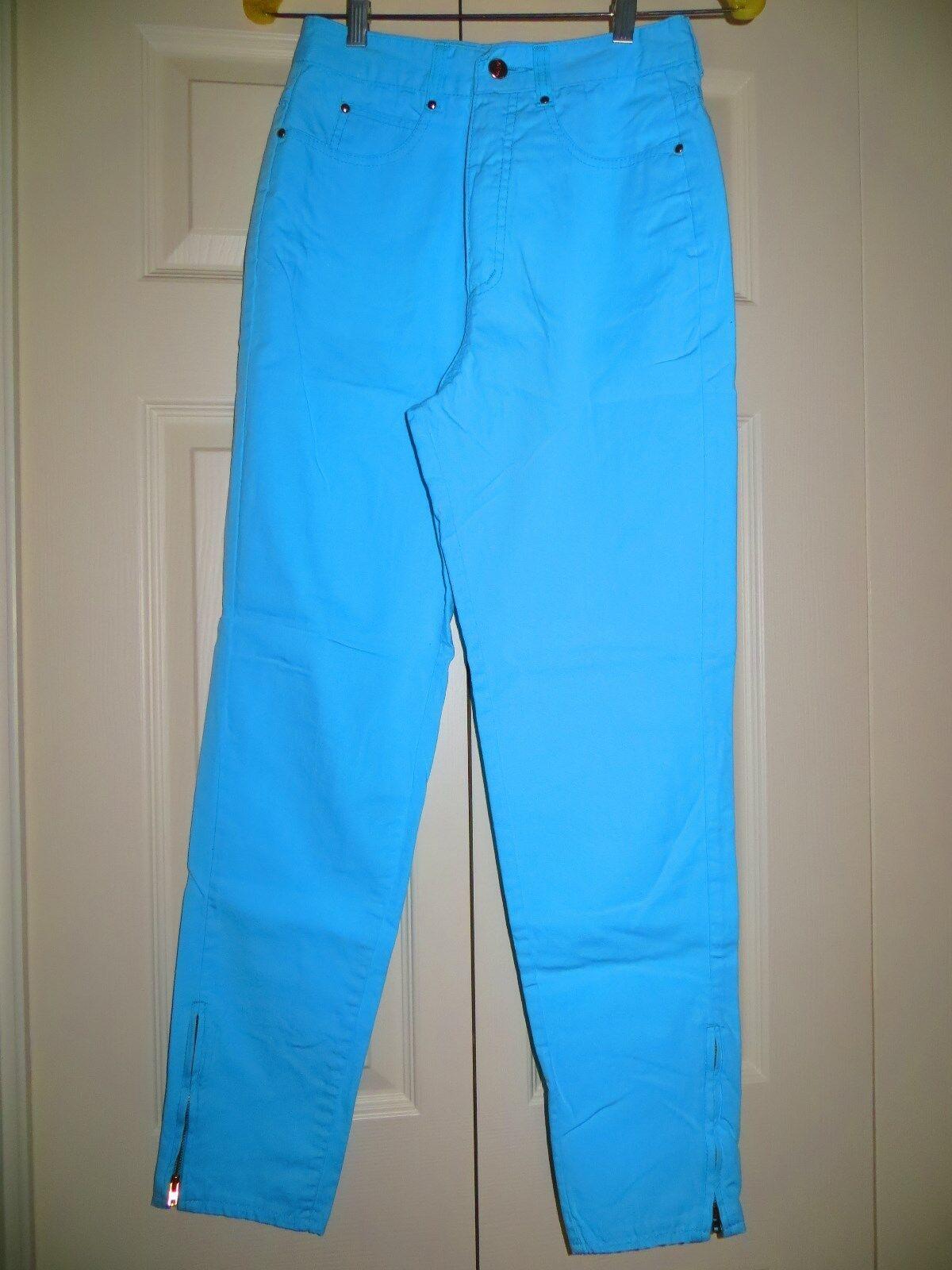 womans skinny jeans pants blue cotton 31/28 Chemi… - image 7