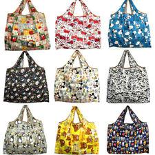 Eco Shopping Travel Shoulder Bag Oxford Tote Handbag Folding Reusable Cartoon