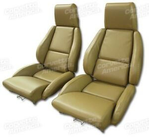 Details about 84-87 Corvette C4 MOUNTED Seat Upholstery Covers SADDLE VINYL  with FOAM SET NEW