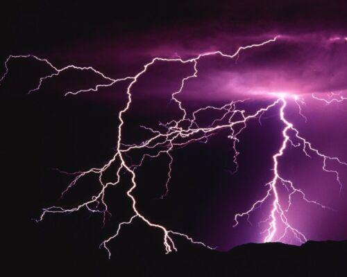 8x10 GLOSSY Photo Picture IMAGE #2 Lightning Strike 8 x 10