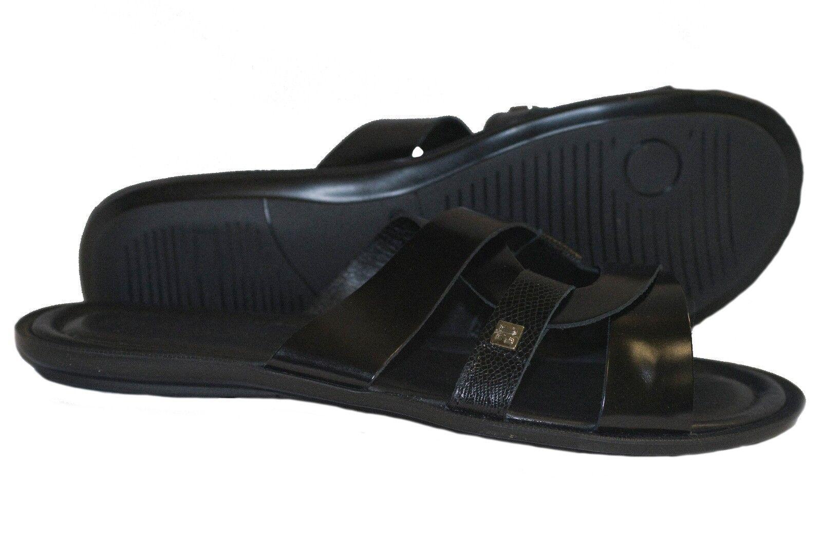 Giovanni Conti 380 s Italian men black sandals