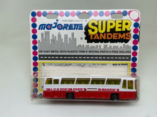 MAJORETTE-SUPER TANDEMS-AUTOCAR COUNTRY BUS OMNIBUS #373-MADE IN FRANCE-SEALED