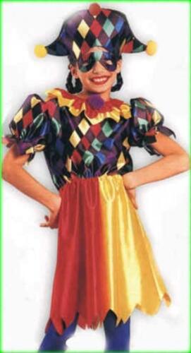 COCO THE CLOWN JESTER JOKER CHILD HALLOWEEN COSTUME GIRL/'S SIZE LARGE