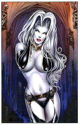"""LADY DEATH HOT """"STATUESQUE"""" ECCC ART PRINT Signed by BRIAN PULIDO & MONTE MOORE"""