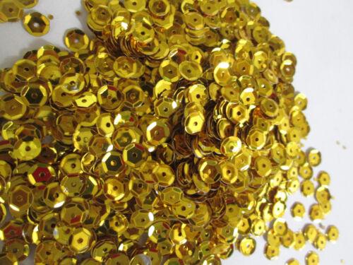 10000 Pailletten Gewölbt GOLD Schmuck 6mm Applikation Aufnäher Borte