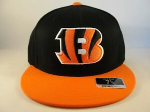 c2976ec4576091 Cincinnati Bengals NFL Reebok Fitted Hat Cap Size 7 3/8 Black Orange ...