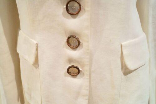 collo Salvatore in 100 coreana Ferragamo M crema alla Giacca formale color Blazer crema WHIHqr