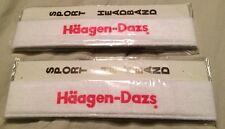 2 Vintage 80's Haagen - Dazs Sport Headband Collectible Advertising Ice Cream