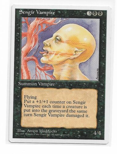 Magic The Gathering ~ 1x Sengir Vampire ~ 4th Edition ~ M//NM