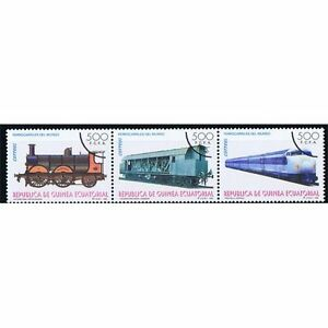 Äquatorial-guinea Edifil 206/208 Eisenbahn ZÜge Überlastung Der Probe Aromatischer Geschmack Äquatorialguinea Afrika